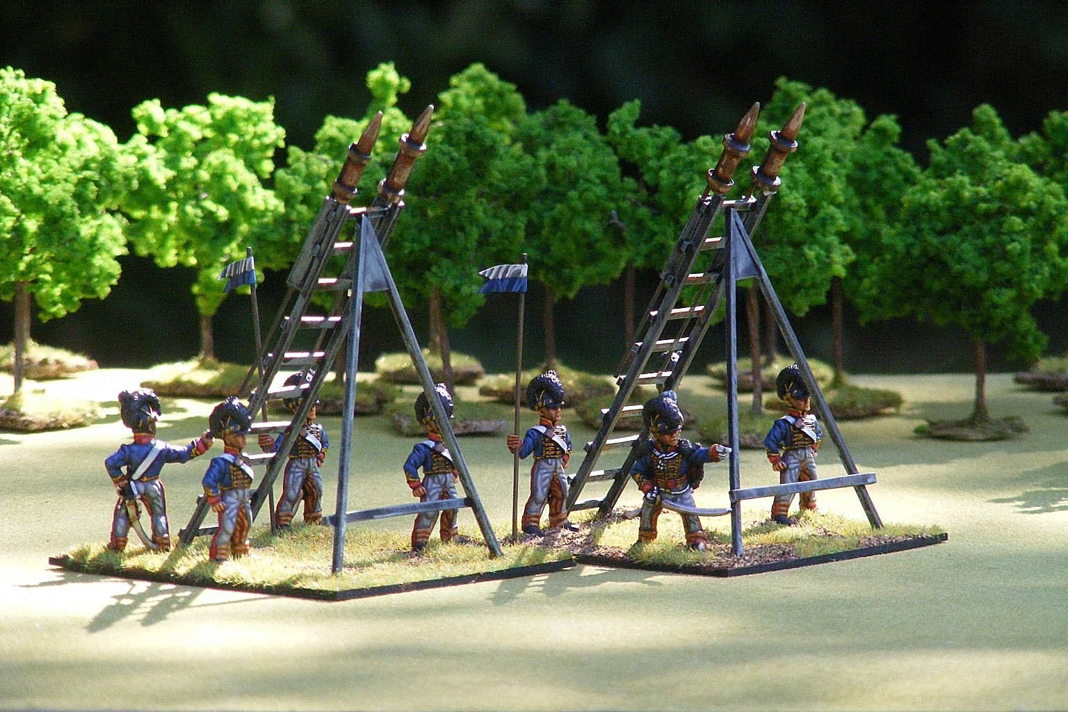 Front Rank RHA With Rocket Launching Frames